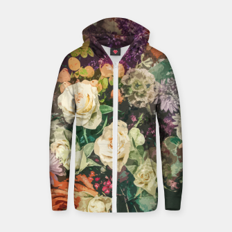 Thumbnail image of Floral Bunch Zip up hoodie, Live Heroes