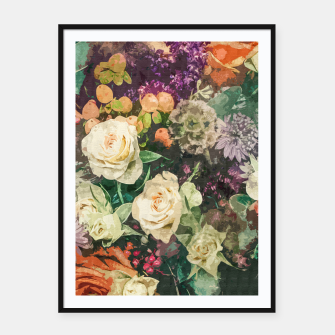 Thumbnail image of Floral Bunch Framed poster, Live Heroes