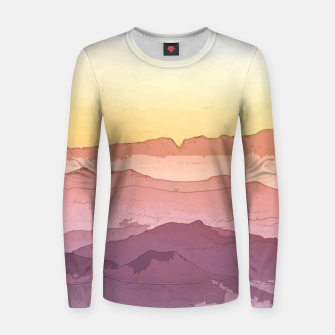 Thumbnail image of Mountain Waves Women sweater, Live Heroes