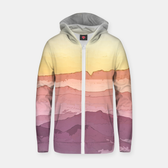 Thumbnail image of Mountain Waves Zip up hoodie, Live Heroes