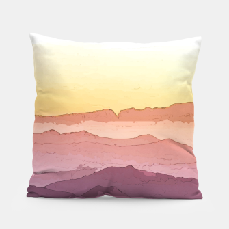 Thumbnail image of Mountain Waves Pillow, Live Heroes