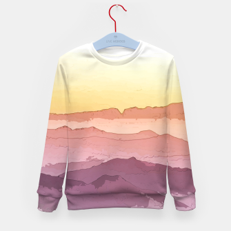 Thumbnail image of Mountain Waves Kid's sweater, Live Heroes