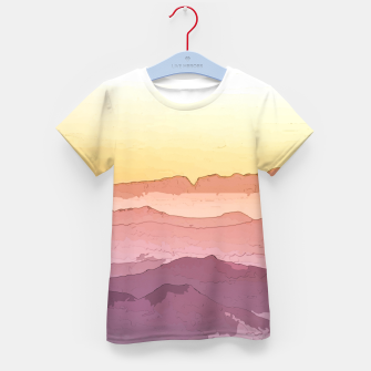 Thumbnail image of Mountain Waves Kid's t-shirt, Live Heroes