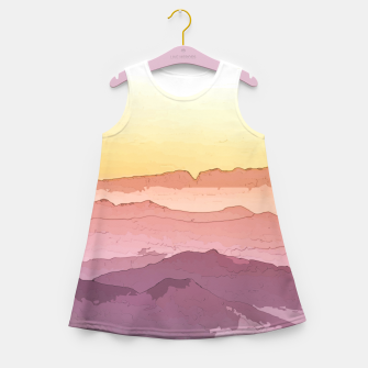 Thumbnail image of Mountain Waves Girl's summer dress, Live Heroes