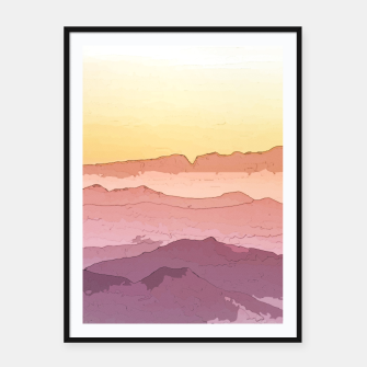 Miniatur Mountain Waves Framed poster, Live Heroes