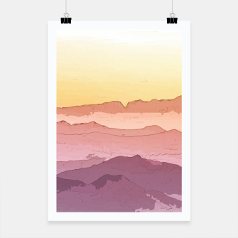 Miniatur Mountain Waves Poster, Live Heroes