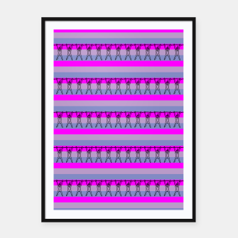 Miniaturka Colorful pattern stripes pink cute Framed poster, Live Heroes