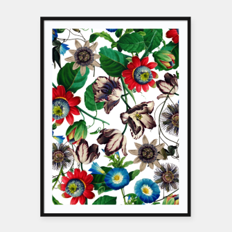 Thumbnail image of Botanical Flowers Framed poster, Live Heroes