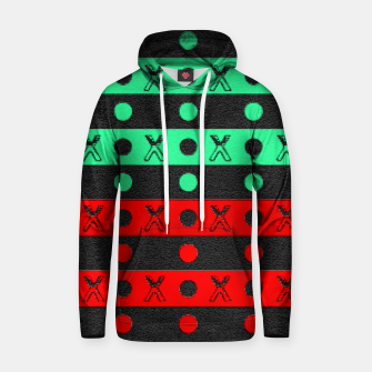 Thumbnail image of Stripes pattern green black and red  Hoodie, Live Heroes