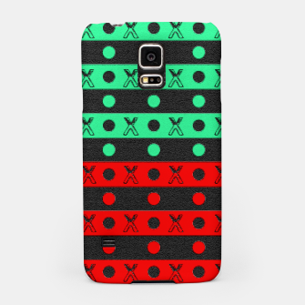 Thumbnail image of Stripes pattern green black and red  Samsung Case, Live Heroes