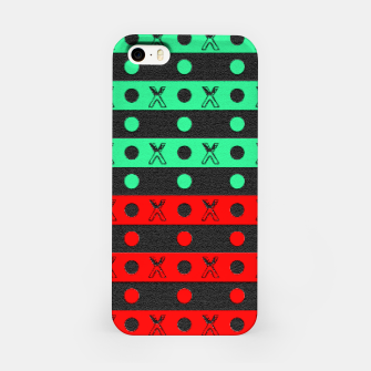 Thumbnail image of Stripes pattern green black and red  iPhone Case, Live Heroes