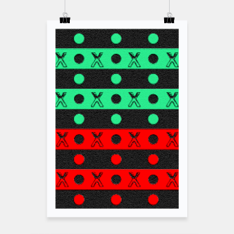 Thumbnail image of Stripes pattern green black and red  Poster, Live Heroes