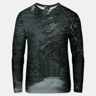 Miniatur Winter path Unisex sweater, Live Heroes