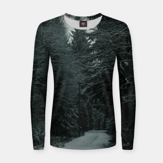 Miniatur Winter path Women sweater, Live Heroes