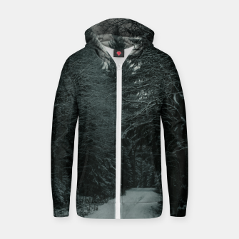 Miniatur Winter path Zip up hoodie, Live Heroes