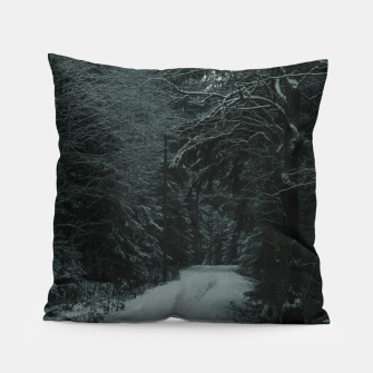 Miniatur Winter path Pillow, Live Heroes