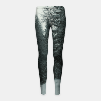 Miniatur Winter path Girl's leggings, Live Heroes