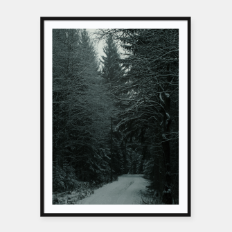 Miniatur Winter path Framed poster, Live Heroes