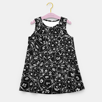 Thumbnail image of Dungeon Master RPG Gamer Dice Girl's summer dress, Live Heroes