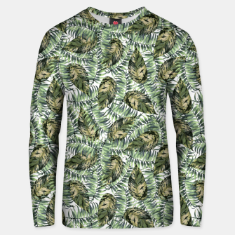 Miniatur Tropical Leaves Unisex sweater, Live Heroes