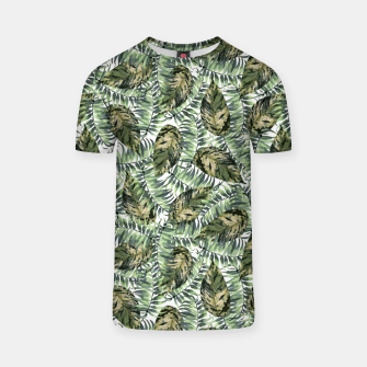 Miniatur Tropical Leaves T-shirt, Live Heroes