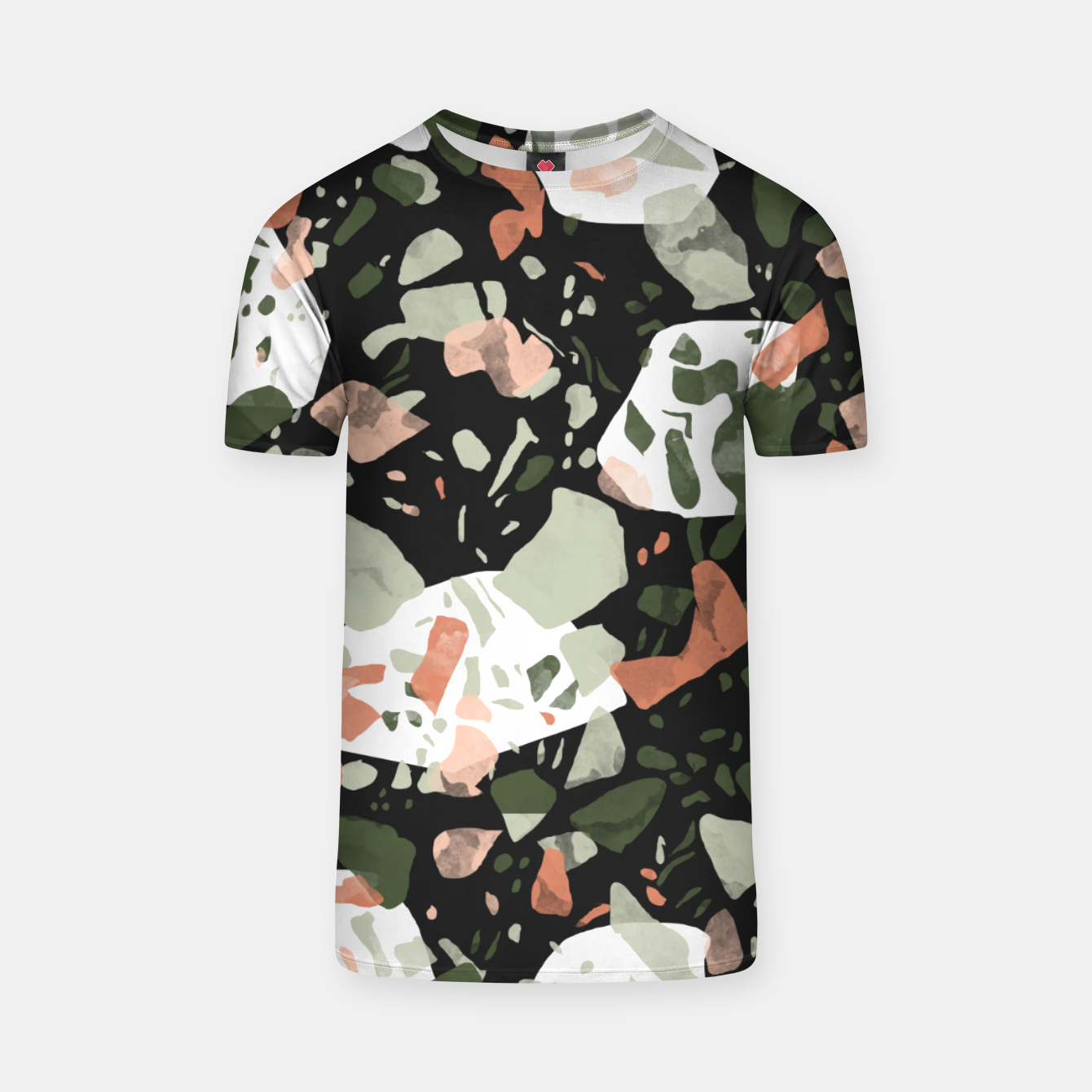 Image of Abstract forms of dark terrazzo Camiseta - Live Heroes