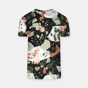 Imagen en miniatura de Abstract forms of dark terrazzo Camiseta, Live Heroes