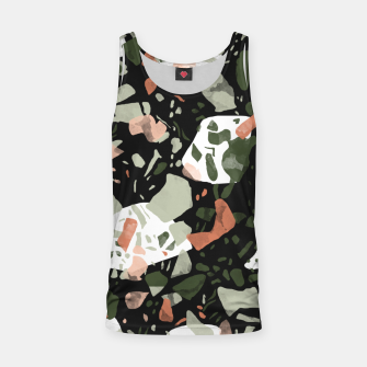 Imagen en miniatura de Abstract forms of dark terrazzo Camiseta de tirantes, Live Heroes