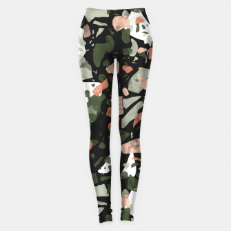 Imagen en miniatura de Abstract forms of dark terrazzo Leggings, Live Heroes