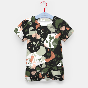 Imagen en miniatura de Abstract forms of dark terrazzo Camiseta para niños, Live Heroes