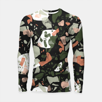 Abstract forms of dark terrazzo Longsleeve rashguard thumbnail image