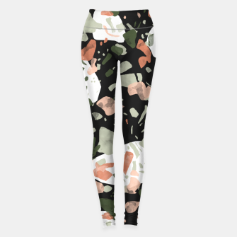 Abstract forms of dark terrazzo Leggings thumbnail image