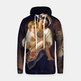 Thumbnail image of Young Mother Gazing At Her Child by William Adolphe Bouguereau Hoodie, Live Heroes
