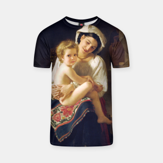 Young Mother Gazing At Her Child by William Adolphe Bouguereau T-shirt miniature