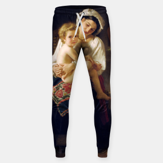 Young Mother Gazing At Her Child by William Adolphe Bouguereau Sweatpants miniature