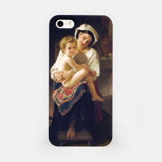 Miniatur Young Mother Gazing At Her Child by William Adolphe Bouguereau iPhone Case, Live Heroes
