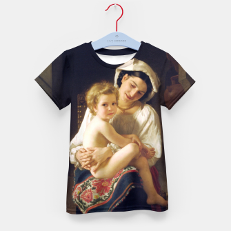 Young Mother Gazing At Her Child by William Adolphe Bouguereau Kid's t-shirt miniature