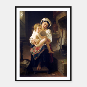 Young Mother Gazing At Her Child by William Adolphe Bouguereau Framed poster miniature