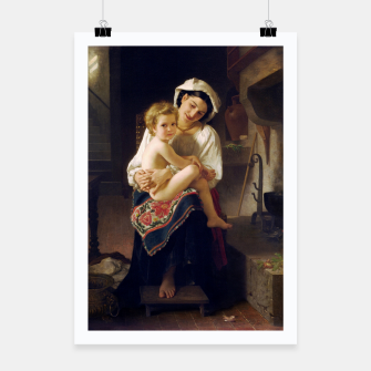 Miniatur Young Mother Gazing At Her Child by William Adolphe Bouguereau Poster, Live Heroes