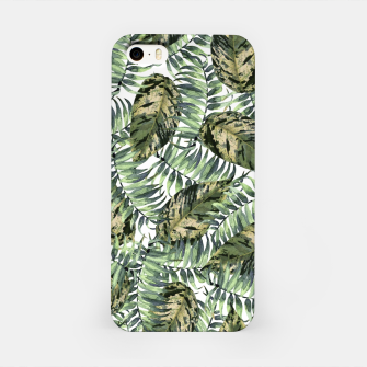 Miniatur Tropical Leaves iPhone Case, Live Heroes