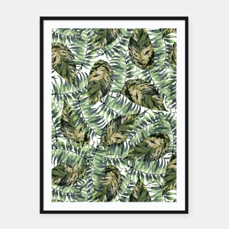 Imagen en miniatura de Tropical Leaves Framed poster, Live Heroes