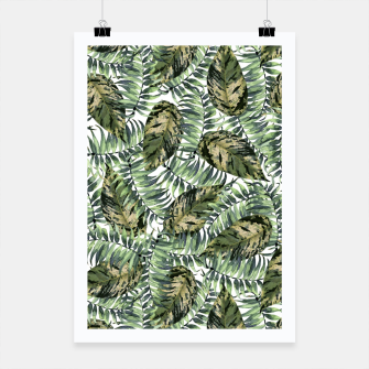 Miniatur Tropical Leaves Poster, Live Heroes