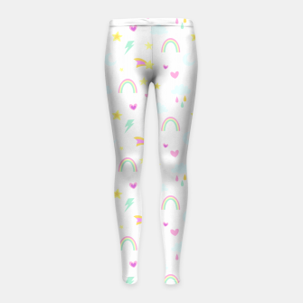 Thumbnail image of Weather Pattern Girl's leggings, Live Heroes