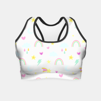 Thumbnail image of Weather Pattern Crop Top, Live Heroes