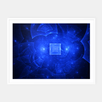 Thumbnail image of Blue Square Universe 2 Framed poster, Live Heroes