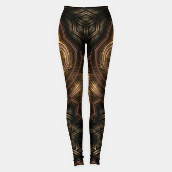 Thumbnail image of Cube Core Golden Rings Leggings, Live Heroes
