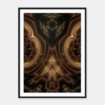Thumbnail image of Cube Core Golden Rings Framed poster, Live Heroes