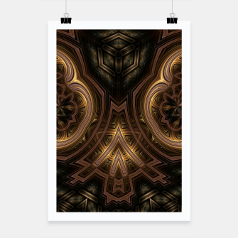 Thumbnail image of Cube Core Golden Rings Poster, Live Heroes