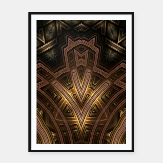 Thumbnail image of Cube Core Golden Rings FV Framed poster, Live Heroes