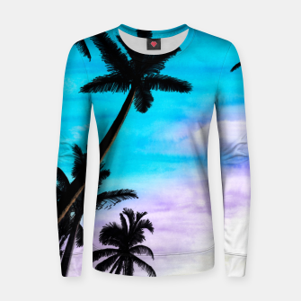 Thumbnail image of Sunset Palms Women sweater, Live Heroes
